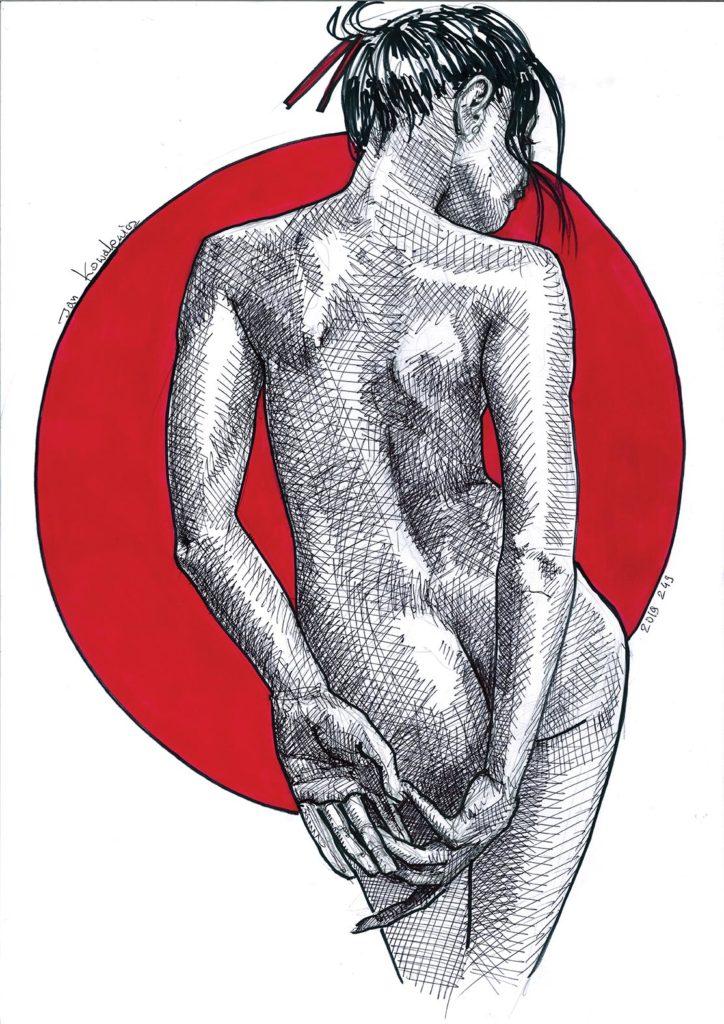 ass nude girl shy red asian