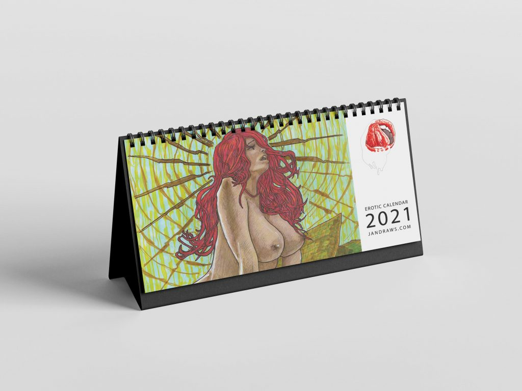 erotic calendar 2021 handmade by jan kowalewicz