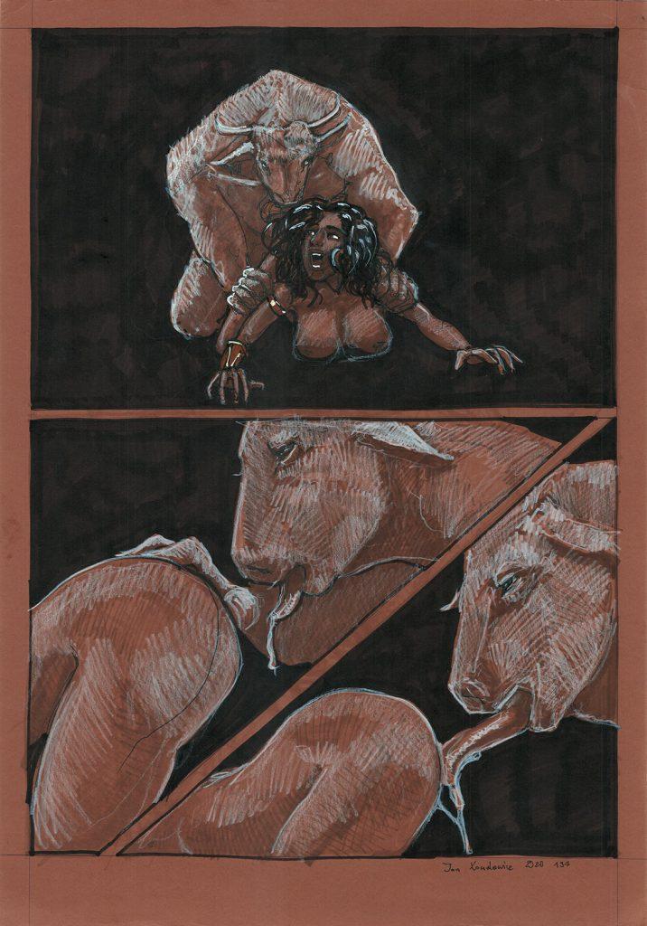 minotaur erotic graphic novel frame comic book