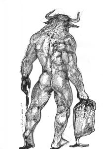 minotaur bull minotauro greek mythology mit mitologia Tezeusz beast bestia
