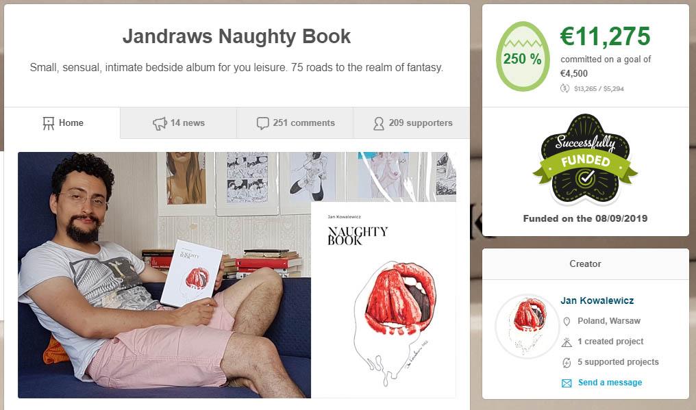 succesful crowdfunding campaign jan kowalewicz book