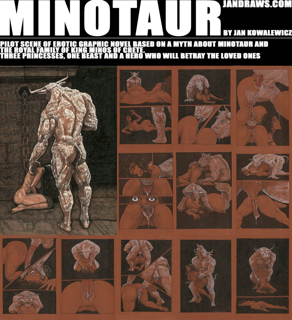 greek myth story graphic novel sex erotic dark beast beauty jan kowalewicz